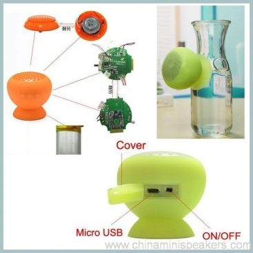 fashionable suck on phone smartphone wireless silicone bluetooth speaker 4