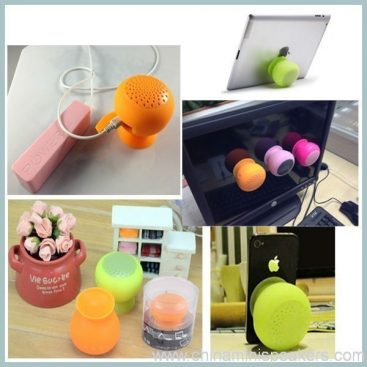 fashionable suck on phone smartphone wireless silicone bluetooth speaker 5