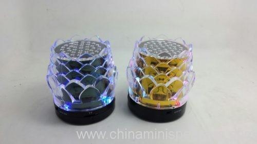7 color flower tf card speaker