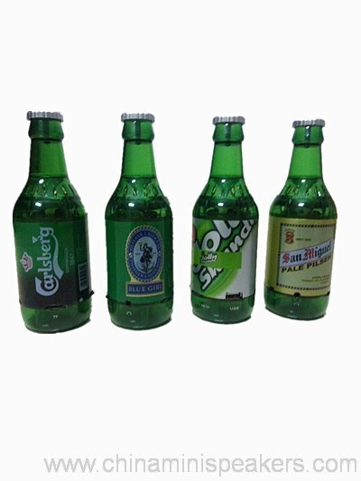 Beer Bottle Speaker With TF/USB Flash Drive/FM Radio