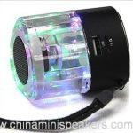 Colorful led mini triangle-shape crystal speakers with USB FM TF 2