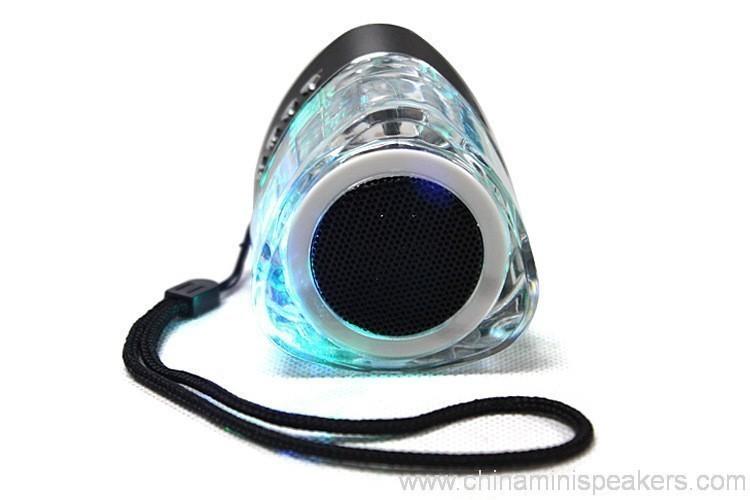 Colorful led mini triangle-shape crystal speakers with USB FM TF 5
