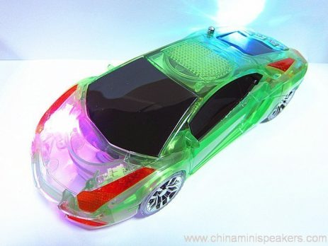 Beautiful Mini Crystal Car Speaker with LED light FM TF card U disk Slot 1