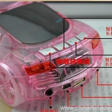 Beautiful Mini Crystal Car Speaker with LED light FM TF card U disk Slot 10