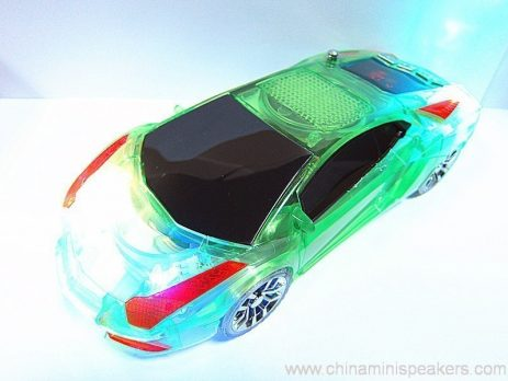 Beautiful Mini Crystal Car Speaker with LED light FM TF card U disk Slot 2