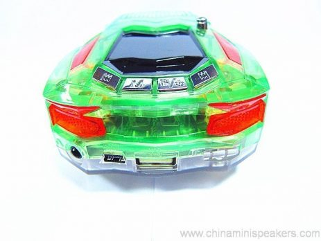 Beautiful Mini Crystal Car Speaker with LED light FM TF card U disk Slot 6