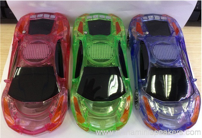 Beautiful Mini Crystal Car Speaker with LED light FM TF card U disk Slot 9