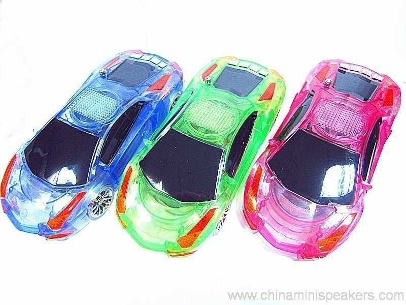 Beautiful Mini Crystal Car Speaker with LED light FM TF card U disk Slot