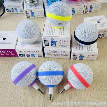 Ball Style Mini Mobile Phone Speaker for iPhone / iPod / iPad