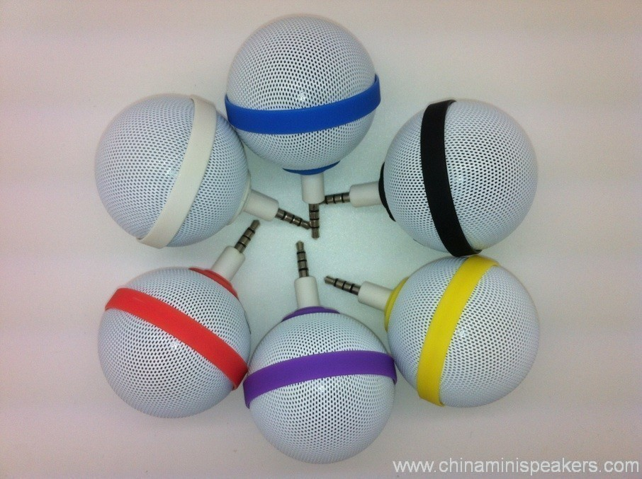 Ball Style Mini Mobile Phone Speaker for iPhone / iPod / iPad 4