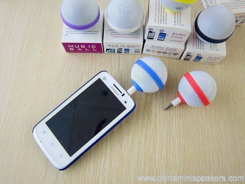 Ball Style Mini Mobile Phone Speaker for iPhone / iPod / iPad 5