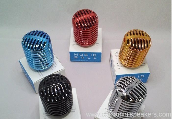 Mobile phone Speaker of ball shaped cute lovely music player