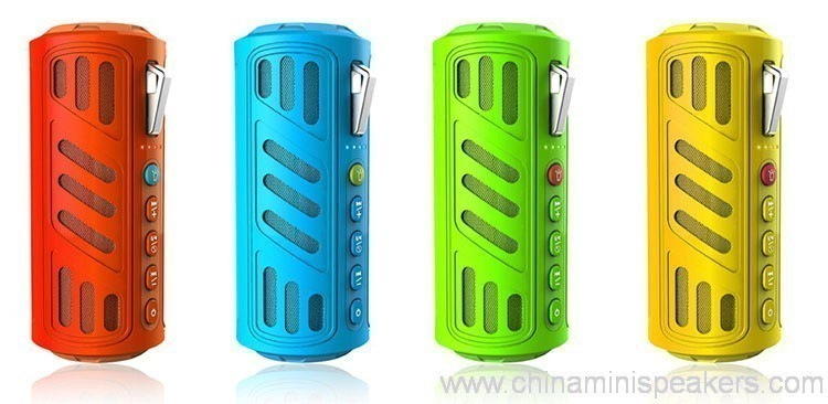 10w Super bass portable waterproof bluetooth speaker with 4400mAh powerbank