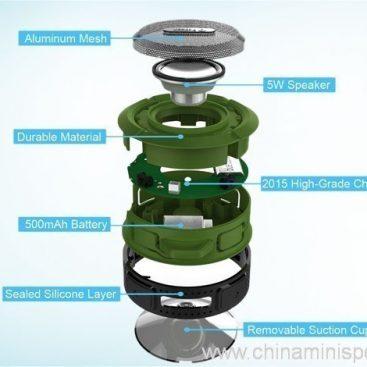 Carabiner outdoor portable waterproof bluetooth speaker 5