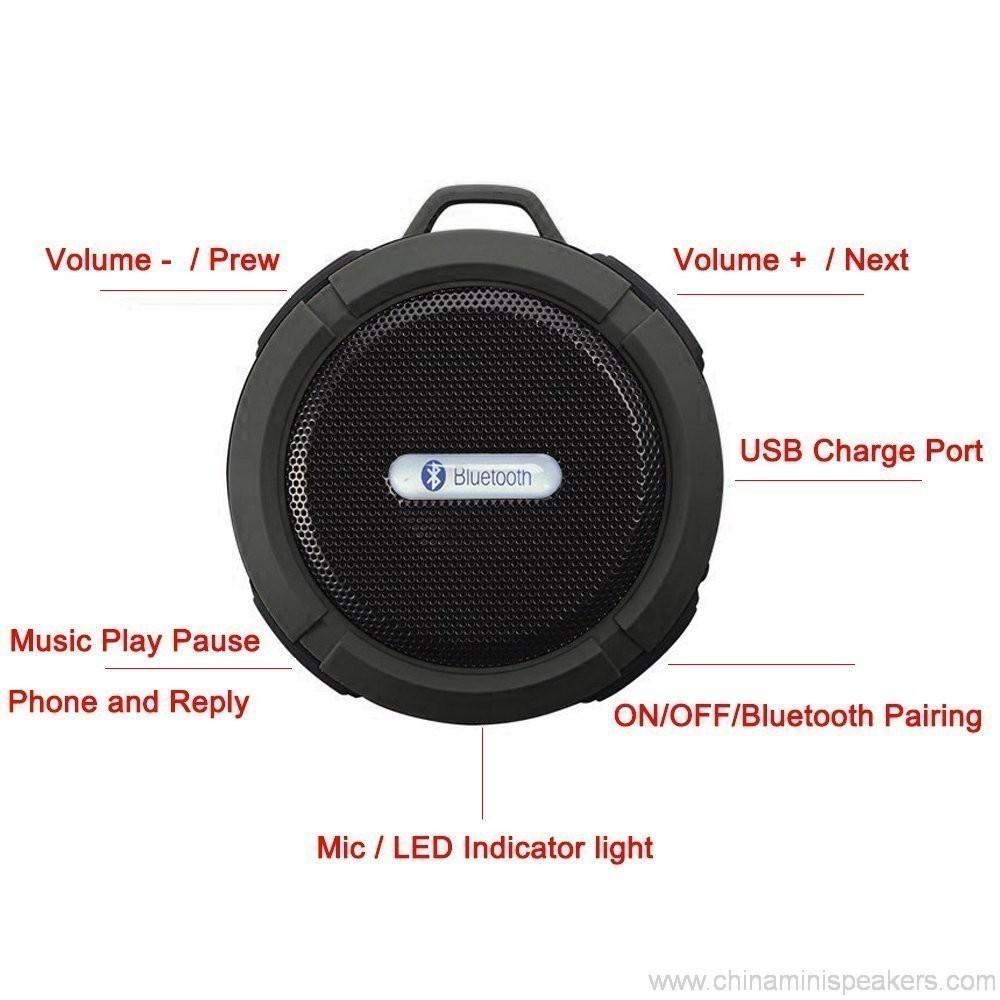 Carabiner outdoor portable waterproof bluetooth speaker 7