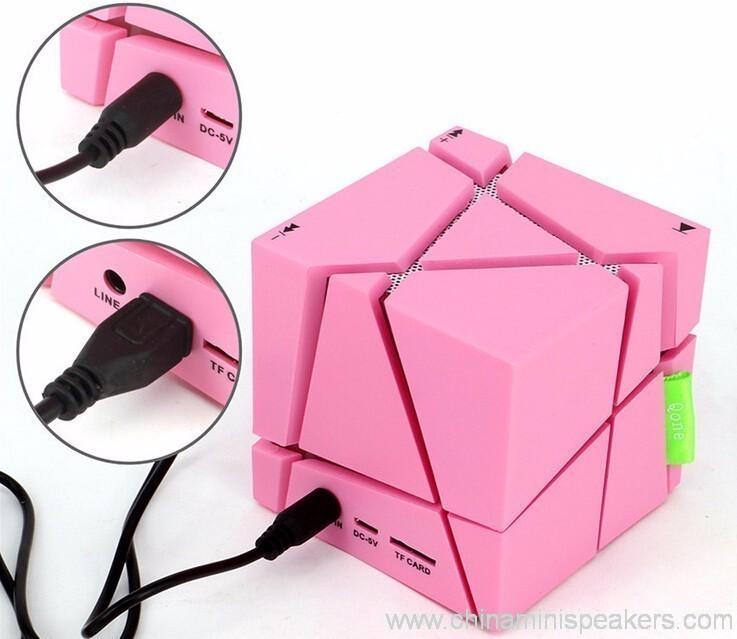 Cube super bass mini bluetooth speaker with fm radio 7