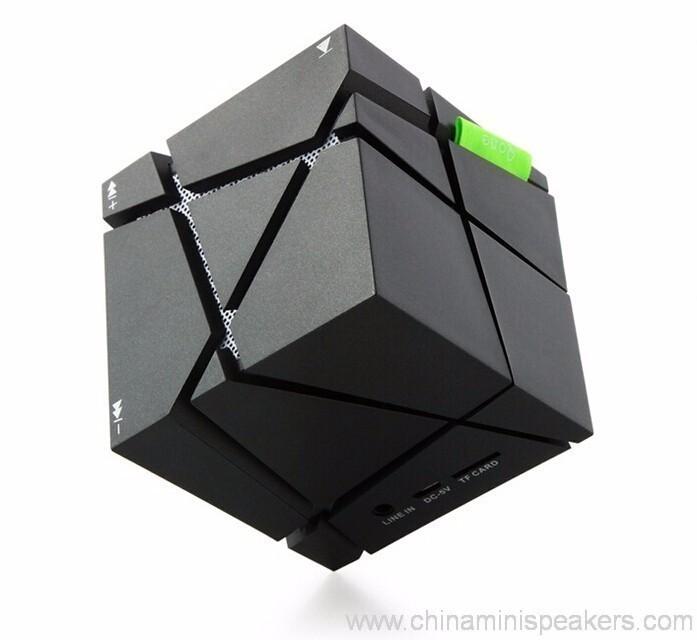 Cube super bass mini bluetooth speaker with fm radio 8