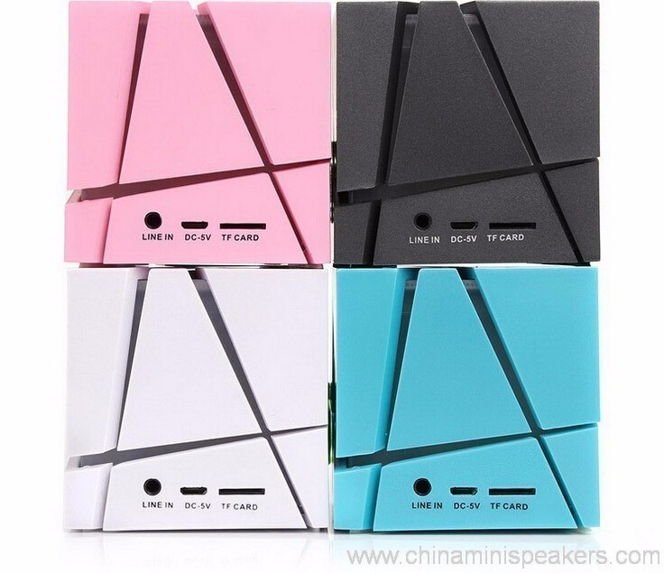 Cube super bass mini bluetooth speaker with fm radio 9