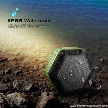 Hexagon shape Small Waterproof Wireless bluetooth speaker With Hook 10
