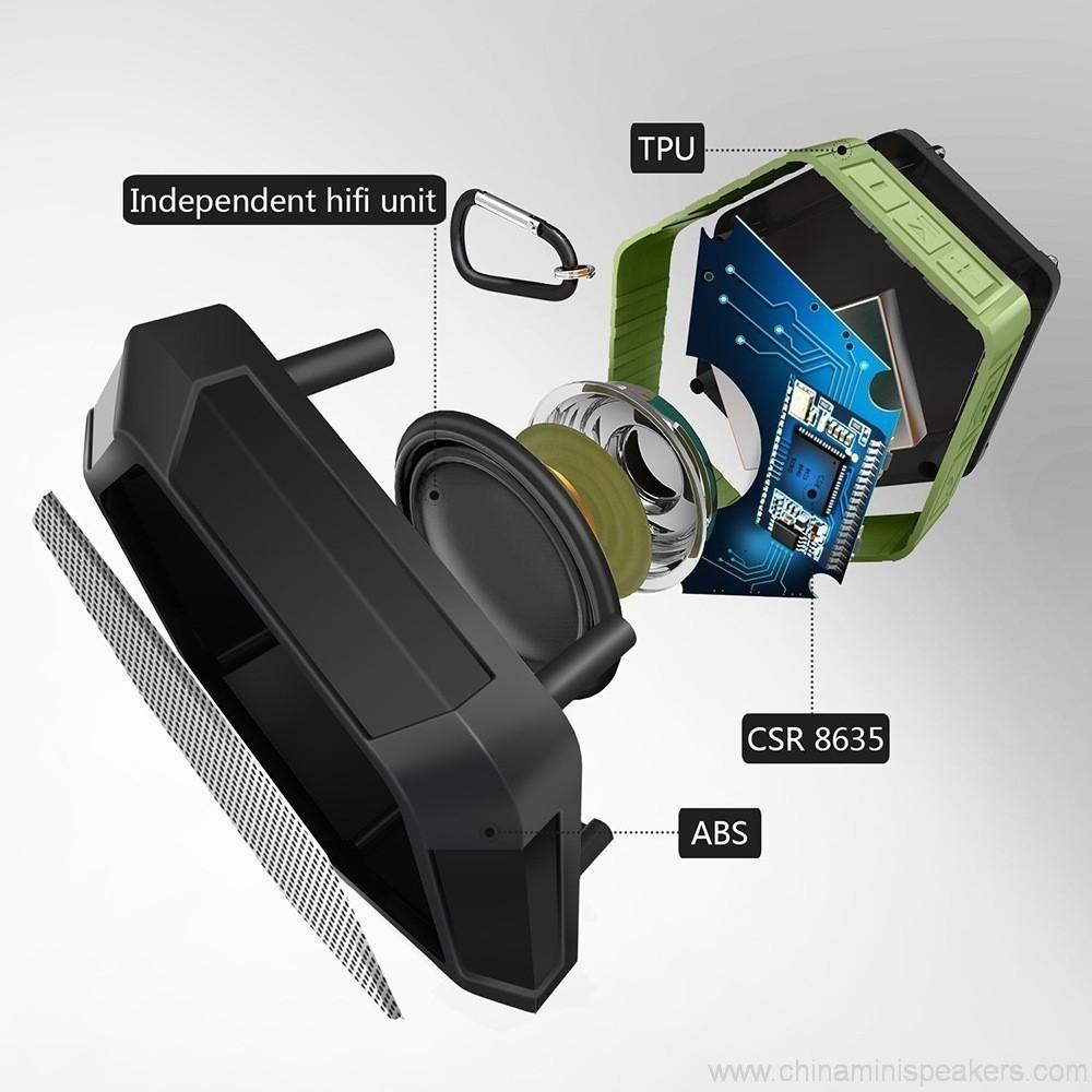 Hexagon shape Small Waterproof Wireless bluetooth speaker With Hook 2