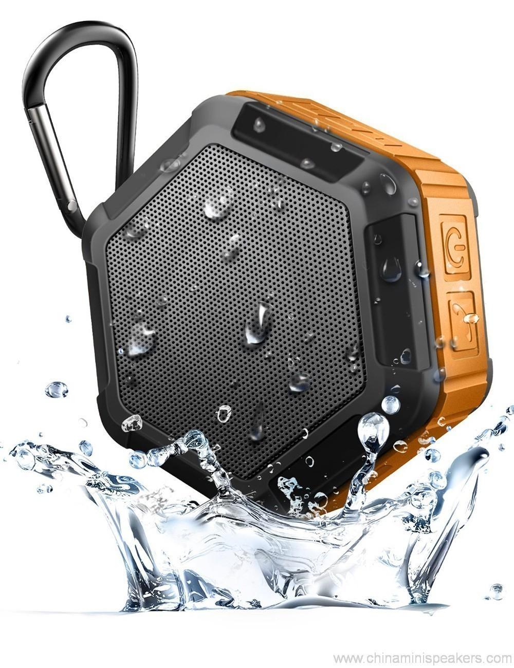 Hexagon shape Small Waterproof Wireless bluetooth speaker With Hook 4