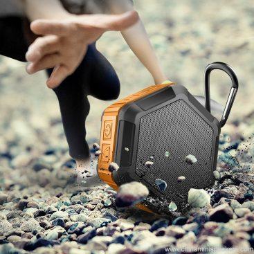 Hexagon shape Small Waterproof Wireless bluetooth speaker With Hook 7