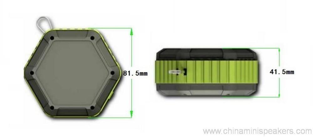 Hexagon shape Small Waterproof Wireless bluetooth speaker With Hook 9