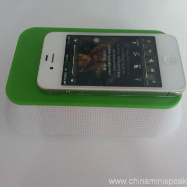 Plastic Remove Battery Induction Wireless Mini Speaker 3
