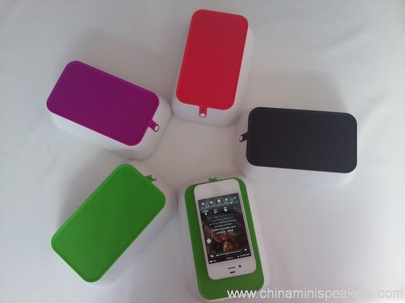 Plastic Remove Battery Induction Wireless Mini Speaker 4