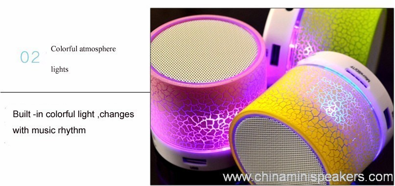 Wireless mini speaker with LED light 4