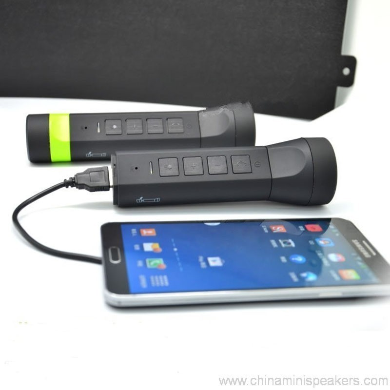 4 in 1 multi-function outdoor torch power bank bluetooth speaker 3