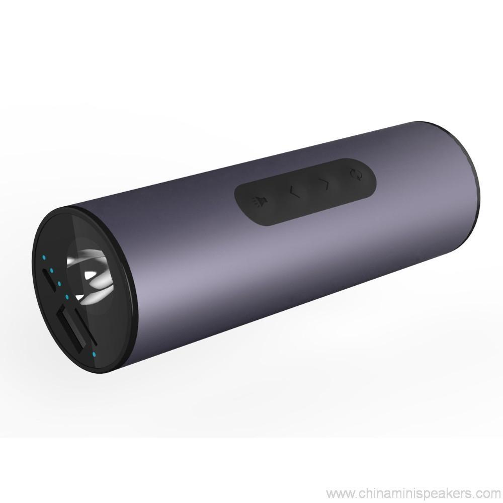 Multi-function 6000mah mini wireless power bank led bluetooth speaker 4