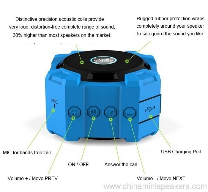 Dustproof shockproof and waterproof wireless bluetooth subwoofer speaker 2