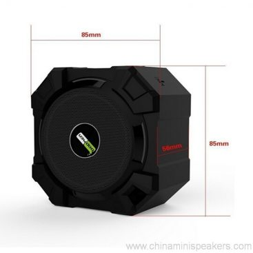 Dustproof shockproof and waterproof wireless bluetooth subwoofer speaker 4