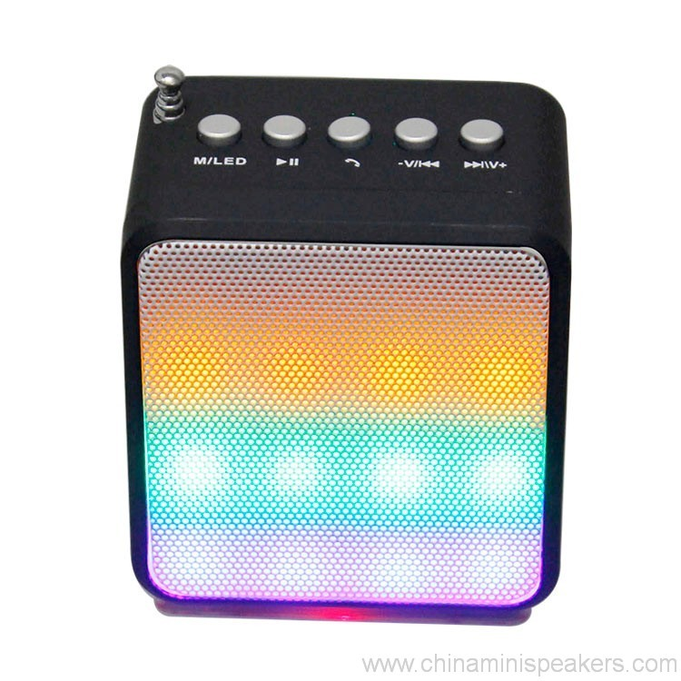 Portable Audio Subwoofer Bluetooth Speaker With LED Lighting Stereo Amplifier 4