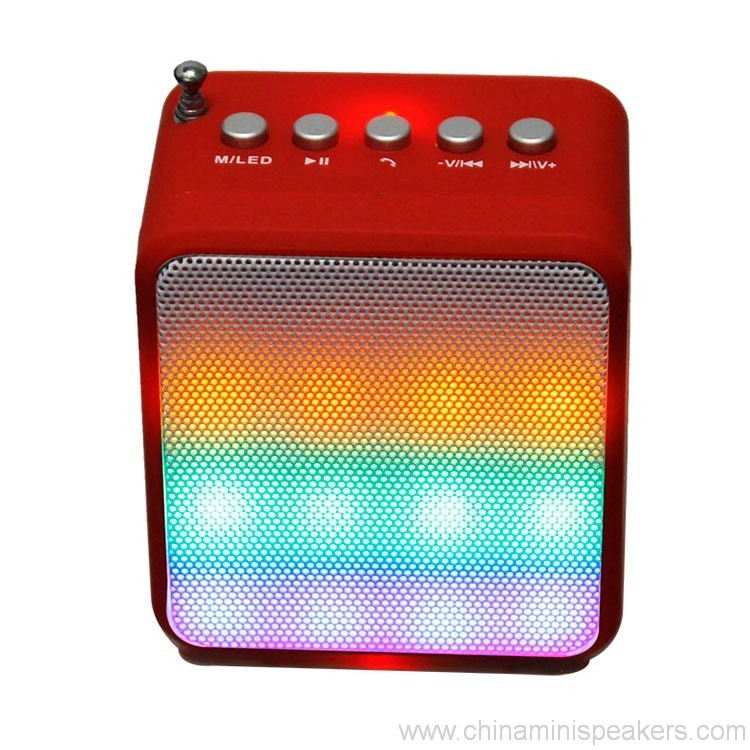Portable Audio Subwoofer Bluetooth Speaker With LED Lighting Stereo Amplifier 5