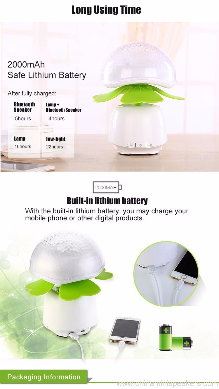 Bluetooth Wireless Speakers Waterproof With Led Light 2