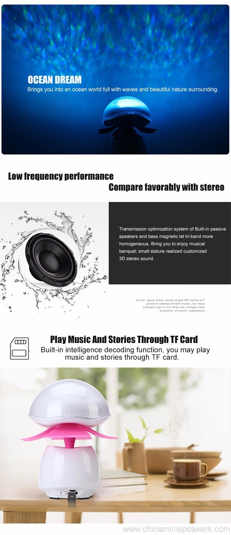 Bluetooth Wireless Speakers Waterproof With Led Light 3