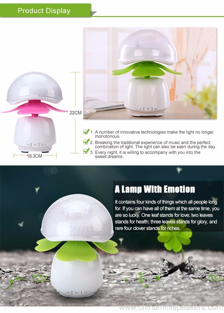 Bluetooth Wireless Speakers Waterproof With Led Light 4